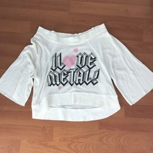 Wildfox cropped 3/4 sweater
